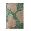 e by design Floral Green Indoor/Outdoor Area Rug