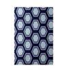 e by design Geometric Navy Blue Indoor/Outdoor Area Rug
