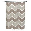 e by design Stripe a Balance Chevron Shower Curtain