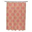 e by design Flower Power Geometric Shower Curtain
