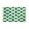 e by design Dot Dash Geometric Print Throw Blanket
