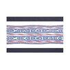 e by design Ikat Ribbon Stripes Print Throw Blanket