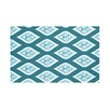e by design Tail Feathers Geometric Print Throw Blanket