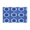 e by design Hugs and Kisses Geometric Print Throw Blanket