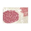 e by design Flowers and Fronds Floral Print Throw Blanket