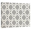 e by design Pebbles Geometric Graphic Art on Wrapped Canvas in Classic Gray