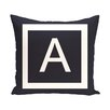 e by design Amsterdam Monogram Throw Pillow