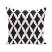 e by design Lattice Kravitz Geometric Print Outdoor Pillow