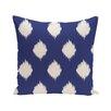 e by design Ikat Dot Geometric Print Outdoor Throw Pillow