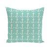 e by design Anchors Away Coastal Print Outdoor Pillow