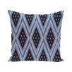 e by design Ikat Diamond Dot Geometric Print Outdoor Pillow