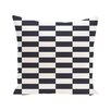 e by design Stair Stepping Stripes Print Outdoor Pillow