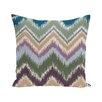 e by design Ikat-arina Chevron Stripes Print Outdoor Pillow
