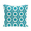 e by design More Hugs and Kisses Geometric Print Throw Pillow