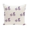 e by design Bicycles! Geometric Print Throw Pillow