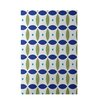 e by design Beach Ball Geometric Print Dazzling Blue Indoor/Outdoor Area Rug