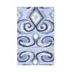 e by design Ikat Fleece Throw Blanket