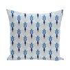 e by design Friendship Floral Geometric Print Throw Pillow