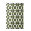 e by design More Hugs and Kisses Geometric Print Olive Indoor/Outdoor Area Rug