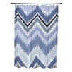 e by design Ikat-Arina Chevron Print Shower Curtain