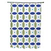 e by design Beach Ball Geometric Print Shower Curtain