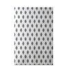 e by design Cop-Ikat Geometric Print Classic Gray Indoor/Outdoor Area Rug