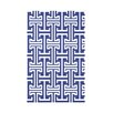 e by design Greek Isles Geometric Print Polyester Fleece Throw Blanket