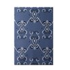 e by design On the Line Print Cadet Indoor/Outdoor Area Rug
