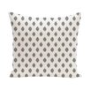 e by design Cop-Ikat Geometric Print Throw Pillow