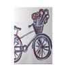e by design La Bicicleta Geometric Print Buddha Indoor/Outdoor Area Rug