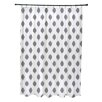 e by design Cop-Ikat Geometric Print Shower Curtain