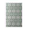 e by design Greek Isles Geometric Print Dusty Miller Indoor/Outdoor Area Rug