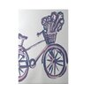 e by design La Bicicleta Geometric Print Pale Orchid Indoor/Outdoor Area Rug