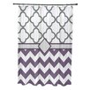 e by design Express Line Geometric Print Shower Curtain