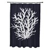 e by design Coral Reef Print Shower Curtain