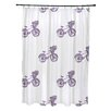 e by design Bicycles Print Shower Curtain