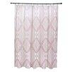 e by design Fishbones Geometric Print Shower Curtain