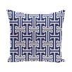 e by design Greek Isles Geometric Print Throw Pillow