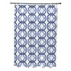 e by design We're All Connected Geometric Print Shower Curtain