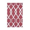 e by design Charleston Geometric Print Polyester Fleece Throw Blanket