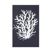 e by design Coral Reef Polyester Fleece Throw Blanket