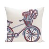 e by design La Bicicleta Geometric Print Throw Pillow