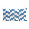 e by design Zigzag Jag Geometric Print Outdoor Pillow