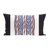 e by design Ikat Ribbon Stripes Print Outdoor Pillow