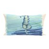 e by design Seahorse  Decorative Outdoor Pillow