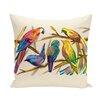 e by design Happy Birds Print Outdoor Pillow