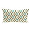e by design Diamond Mayhem Geometric Print Outdoor Pillow