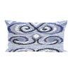 e by design Ikat's Meow Geometric Print Outdoor Pillow