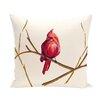 e by design Cardinal Print Outdoor  Floor Pillow