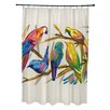 e by design Happy Birds Print Shower Curtain